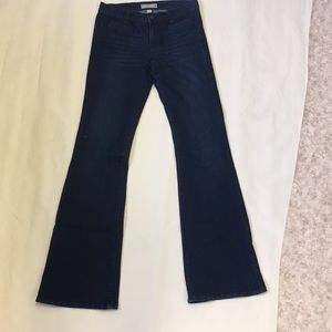 Banana Republic Stretch Wide Leg Dark Wash Jeans